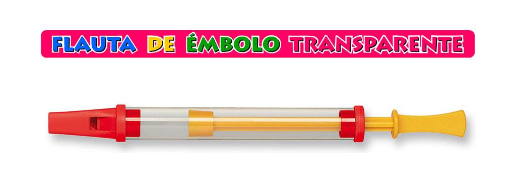 Flauta de Émbolo Transparente
